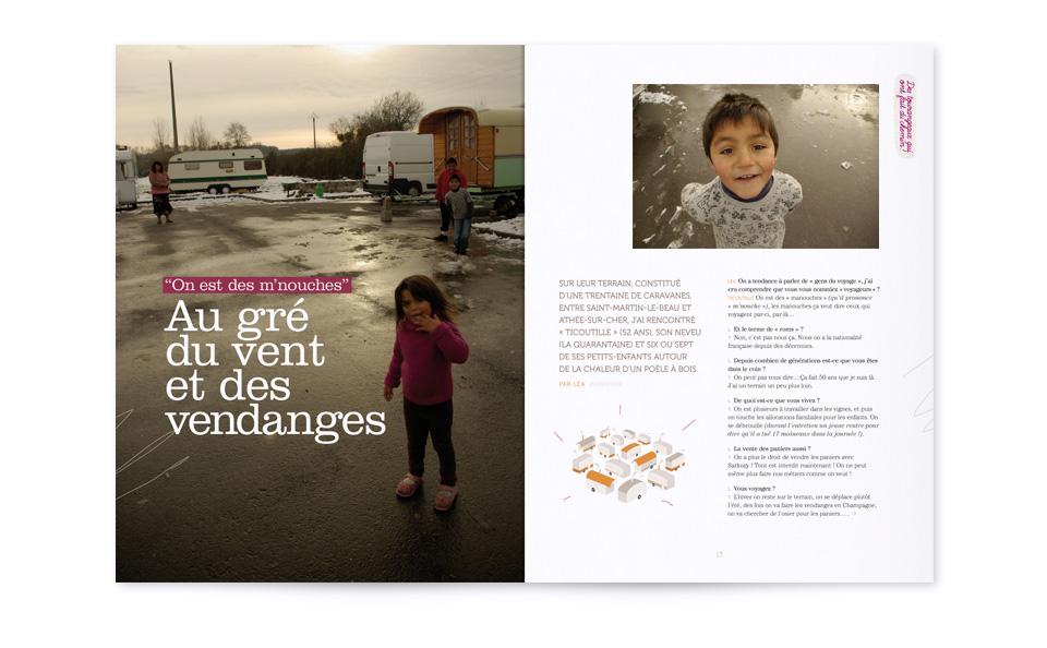 Reportage photo, mise en page et illustration pour Souffle n°5