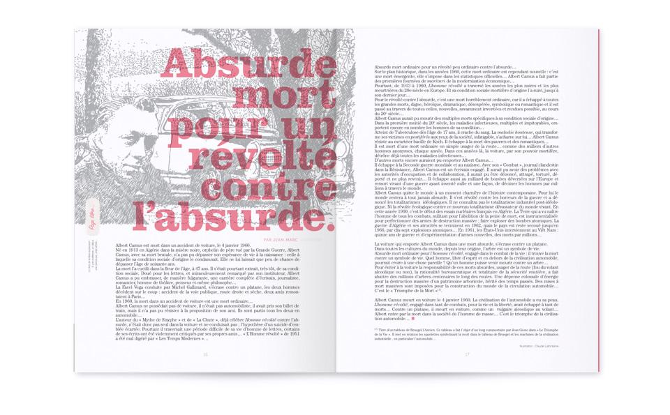 Mise en page sur une double page du numéro 3 du magazine Souffle