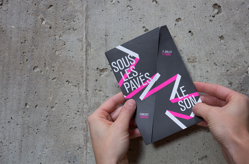 couverture du flyer, impression 2 pantone
