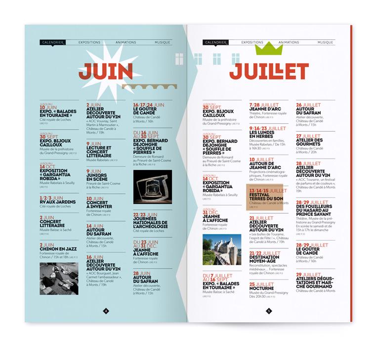 double-page intérieur de la brochure