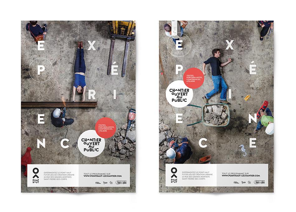 Affiches 2 et 3 pour chantier ouvert du Point Haut