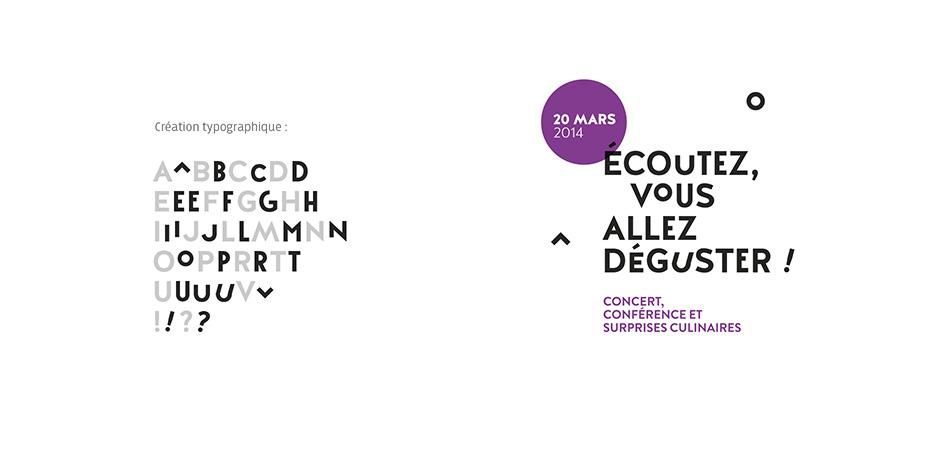 Créations typographique Point Haut, lieu culturel