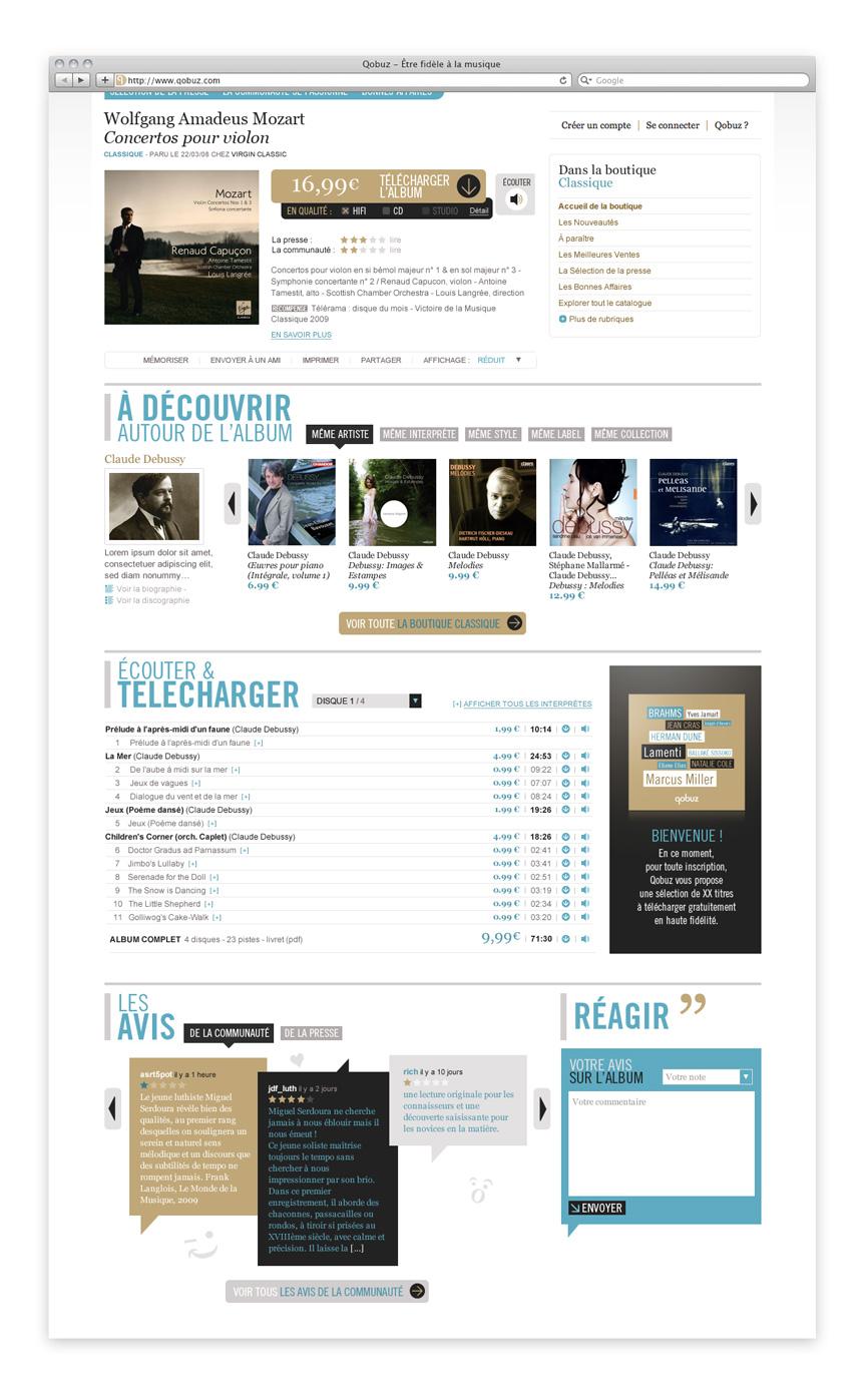 webdesign du site