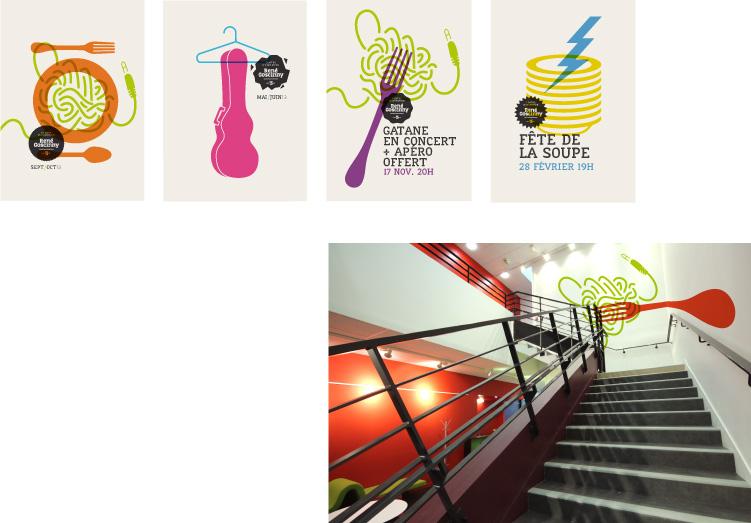 Série d'affiche et design d'espace proposés